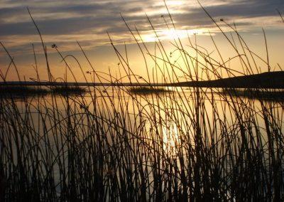 Sundown on Medicine Lake